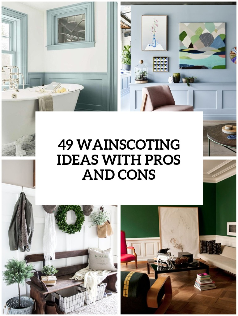 wainscoting ideas with pros and cons cover