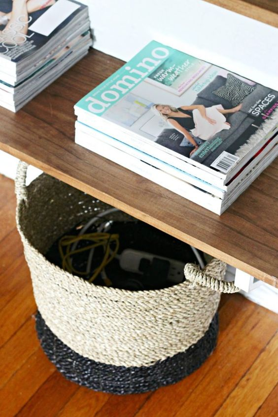 baskets are a great solution when dealing with an abundance of wiring