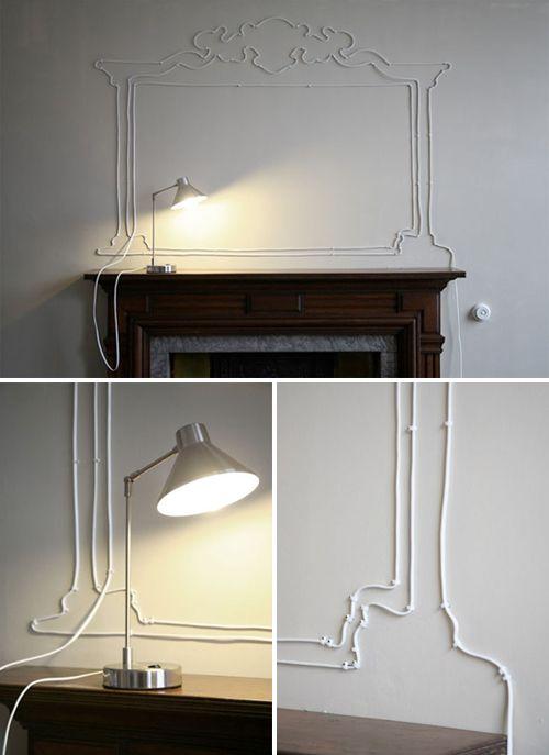cables imitating wainscoting