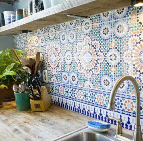 mosaic tiles for a bold kitchen backsplash