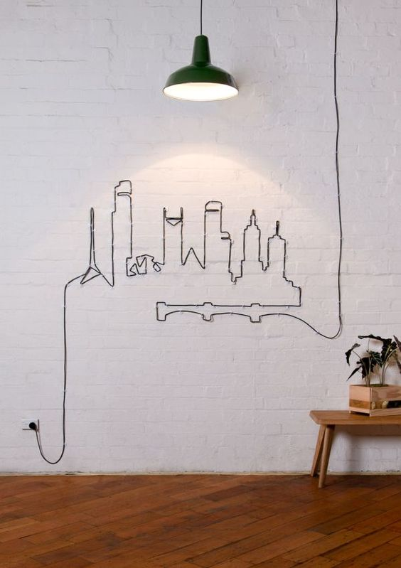 turn your wires into a cool modern wall art