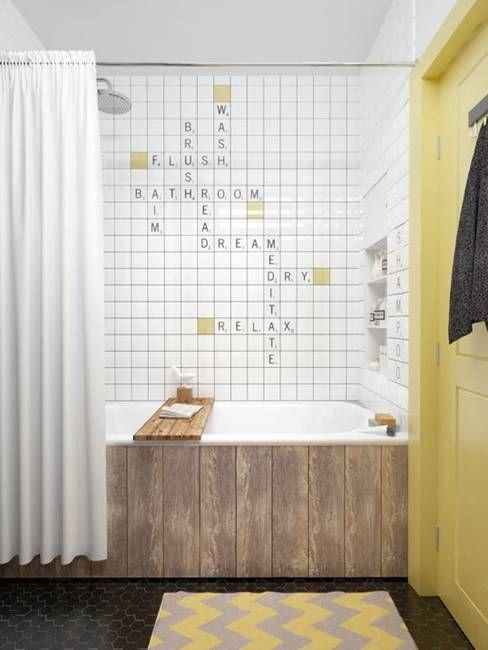 wood coverings for an ugly bathtub
