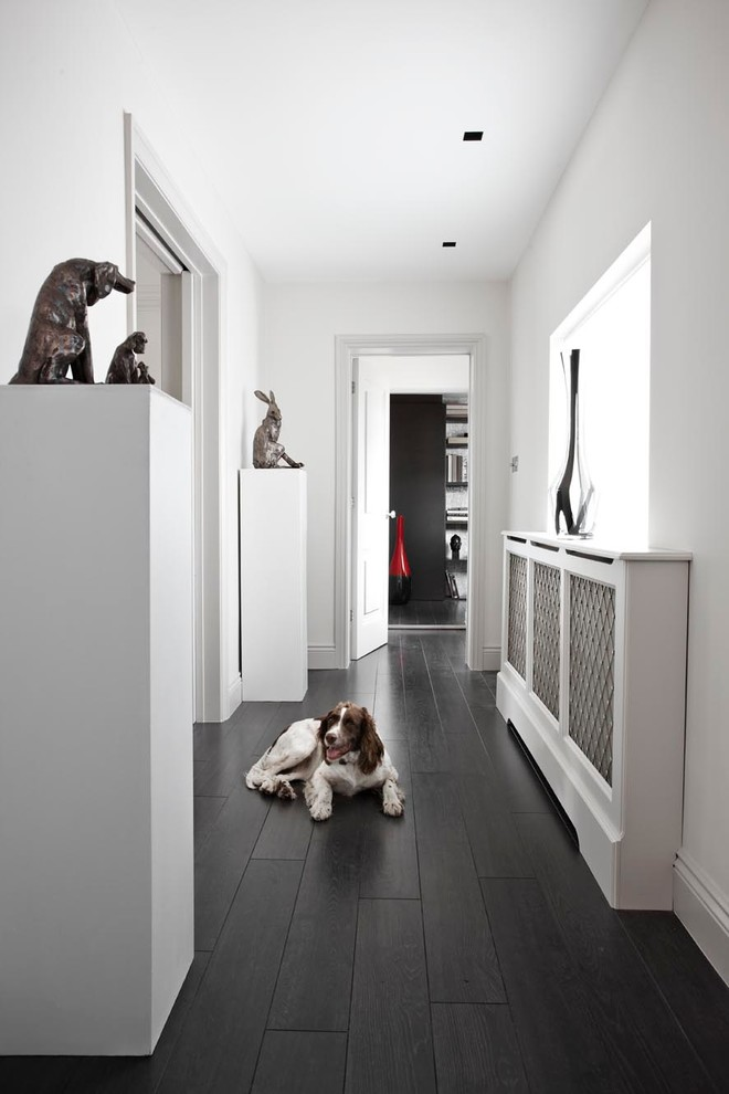 for minimalist interiors radiator covers is a must (Bailey London Interior Design & Build)