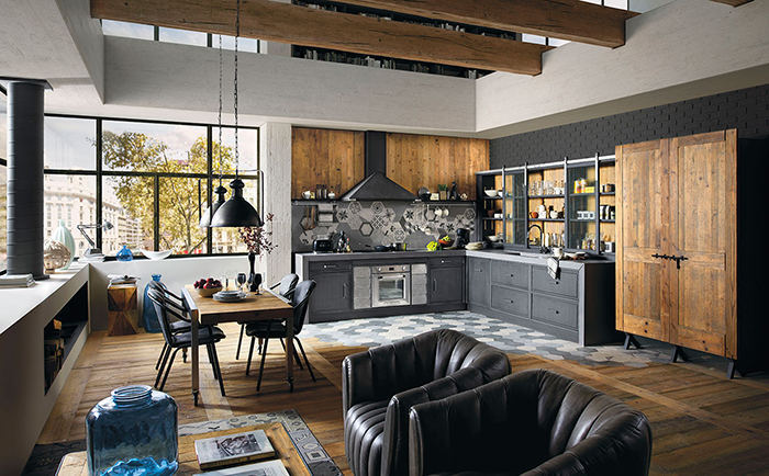 Industrial Gustoitaliano Kitchens With Chic Textural Design