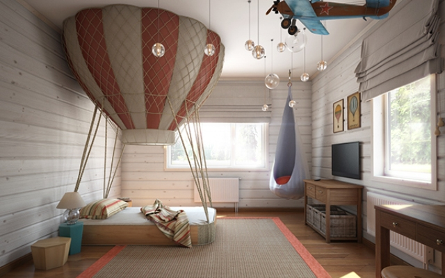 Imaginative Air Themed Room For A Little Boy