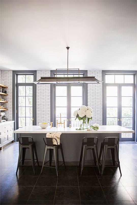 This mid century modern home belongs to a restauranteur in New York