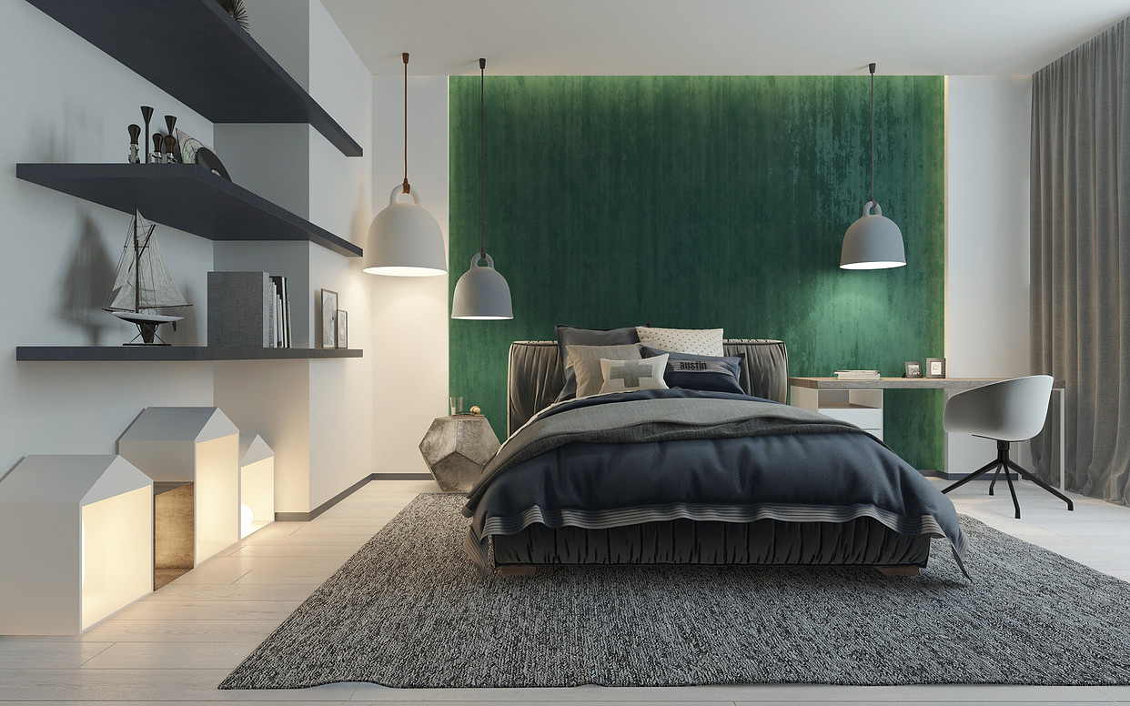 Picture Of Green Accent Wall