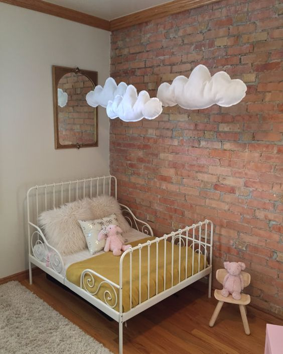 Amelia S Room Toddler Bedroom: 32 Edgy Brick Walls Ideas For Kids' Rooms