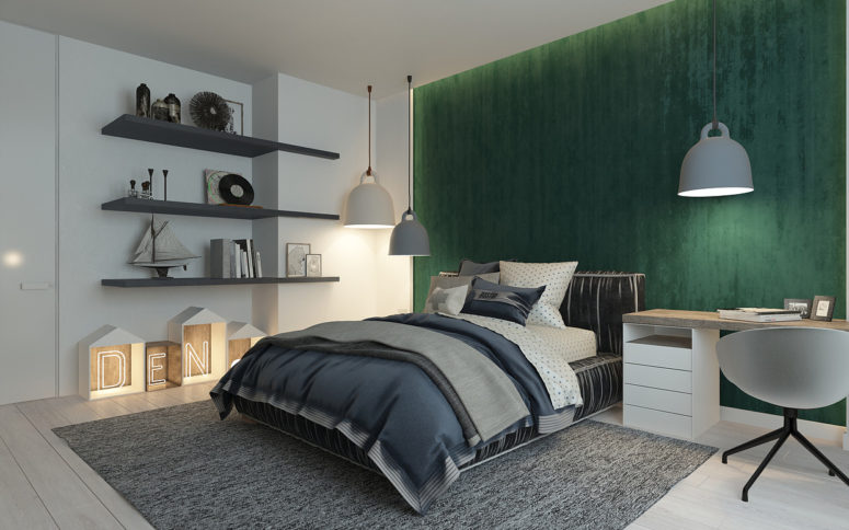 Camera Da Letto Verde Smeraldo : Pareti camera da letto verde smeraldo idee per dipingere le