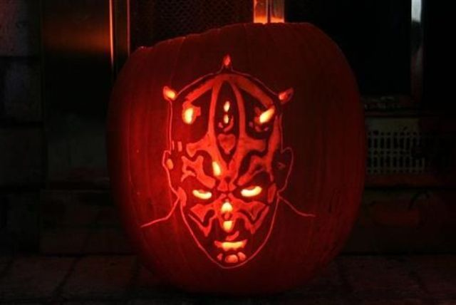 Darth Maul pumpkin lantern