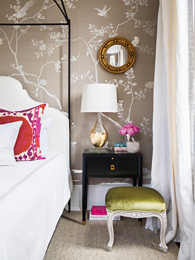 feminine bedroom chairs white furniture gilded touches vintage decor playful