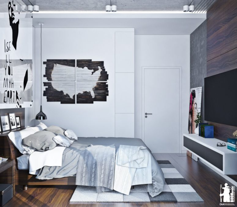 Modern Urban Bedroom Decor In Grey And White DigsDigs Inspiration Urban Bedroom