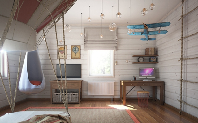 Imaginative Air-Themed Room For A Little Boy