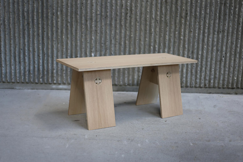 Modern Knock Down Plywood Furniture Made With No Screws Digsdigs