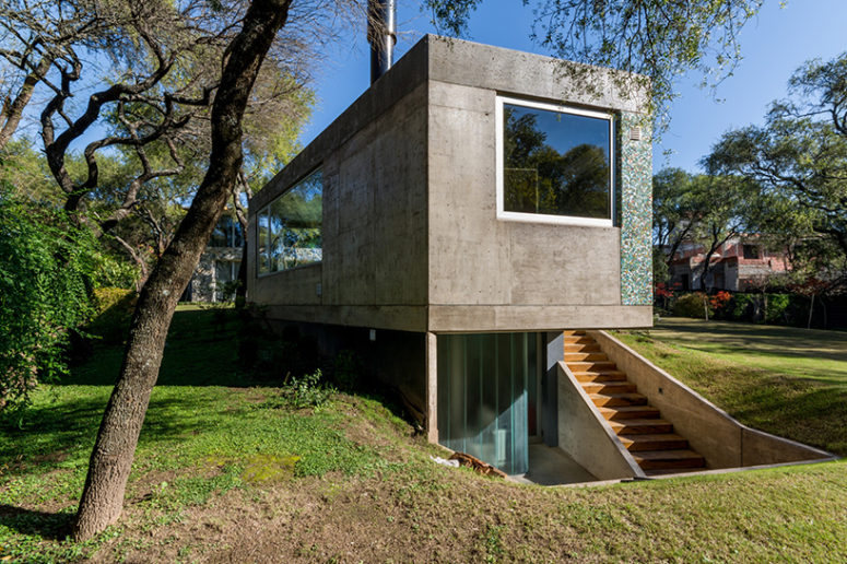 the dwelling is surrounded by trees that provide privacy