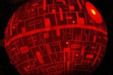 04 Death Star pumpkin lantern