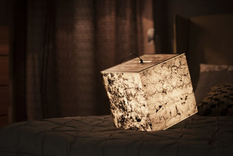 Get Stoned Cube reflects different stone structures and textures