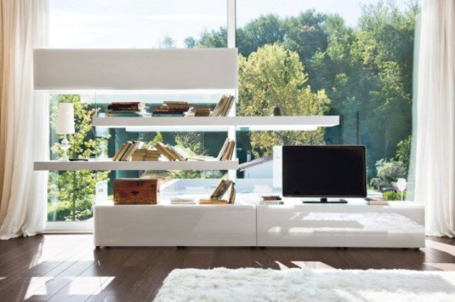 Air Storage may be used as a TV unit, it can accomodate all your devices in aesthetical way