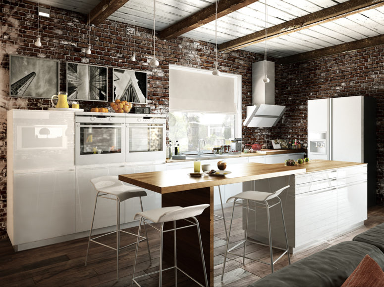 Small Industrial Apartment With Exposed Brick Walls Digsdigs