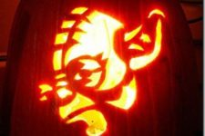 05 Yoda pumpkin carving
