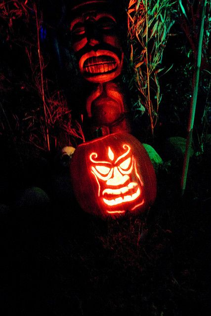 outdoor scary tiki lantern