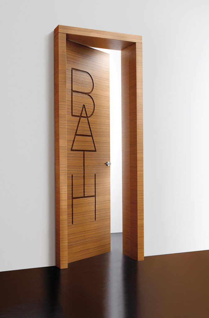 Names of the spaces are written on the doors