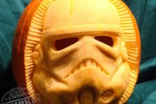 06 Stormtrooper pumpkin carving which can be used as a lantern