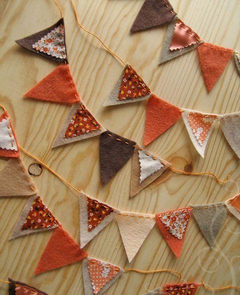 orange fabric bunner for fall