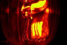 07 Yoda master pumpkin carving