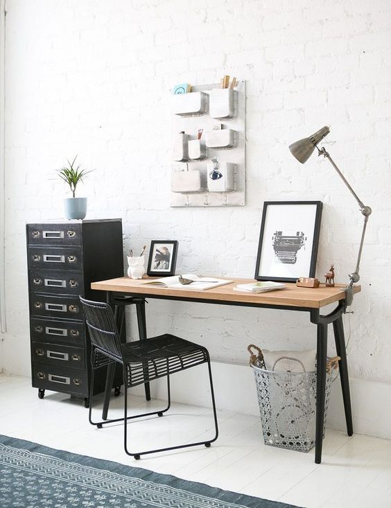 home office white. Wonderful Office Thereu0027s Nothing Better Than A White Brick Wall For Scandinavian Office And Home Office White
