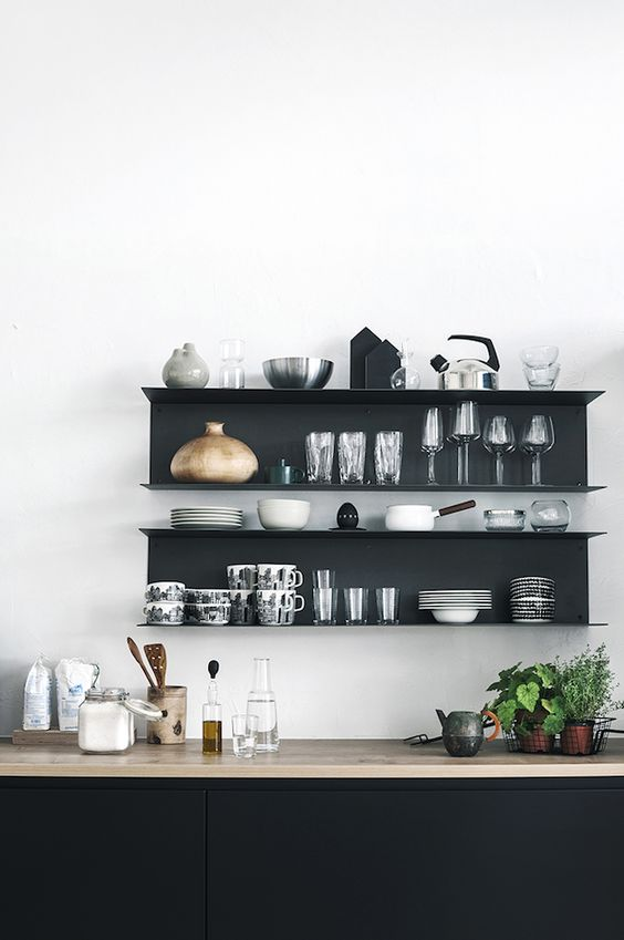 add light wood touches to make your monochrome space warmer and comfier