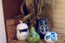 10 Star Wars sharpie painted pumpkins