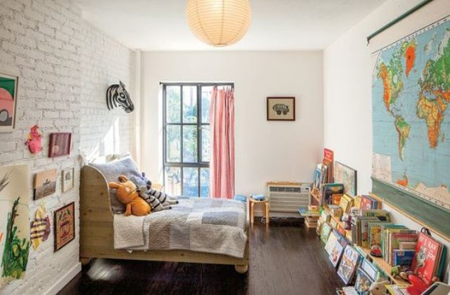32 edgy brick walls ideas for kids 39 rooms digsdigs for Gender neutral bedroom ideas