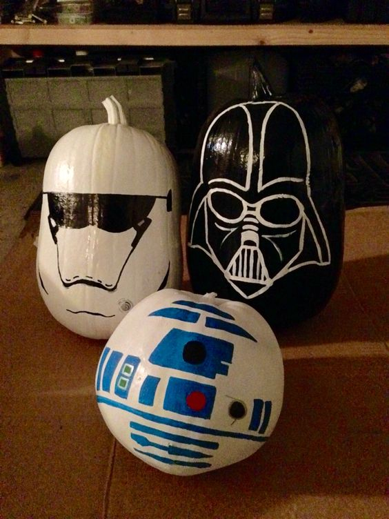 Star Wars painted pumpkins for a geeky Halloween