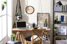 12 cozy home office nook with rustic touches