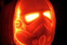 12 lit Stormtropper pumpkin