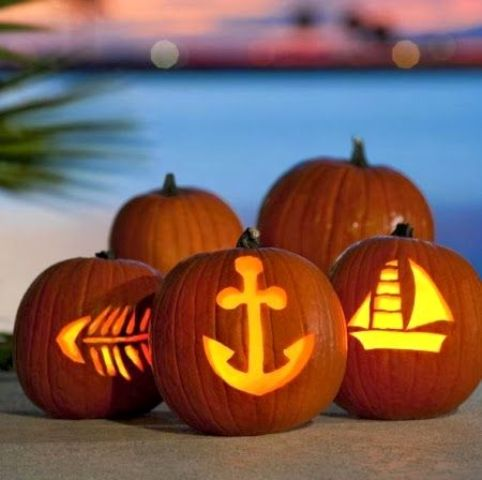 these easy coastal jack-o-lanterns will take you just a couple of minutes