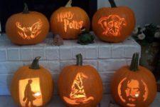 13 Harry Potter group pumpkin carving