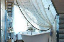 bathtub in a bedroom