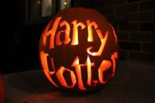 14 Harry Potter letter pumpkin lantern
