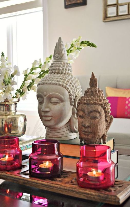 pink and fuchsia candle lanterns may be a great thing for an Asian interior