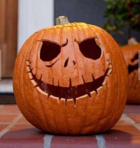 cool take on a classic jack-o-lantern will suit both adults' and kids' Halloween parties