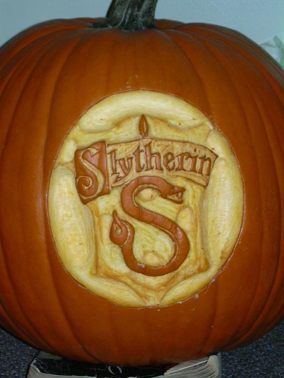 Slytherin pumpkin carving