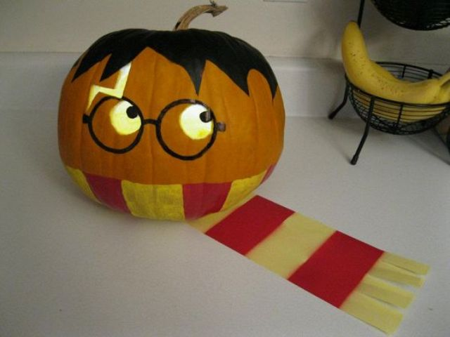 Harry Potter pumpkin for a geek Halloween