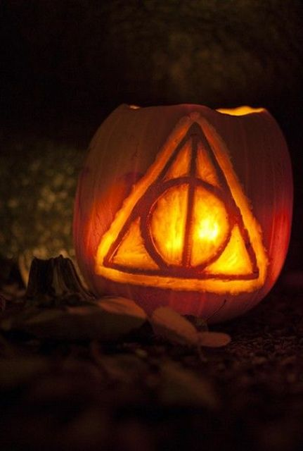 The Deathly Hallows symbol from the Harry Potter series