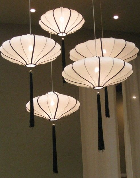Bring asian flavor to your home 36 eye catchy ideas digsdigs - Paper lantern chandelier ...