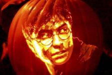 18 Harry Potter face pumpkin carving right like in the movie