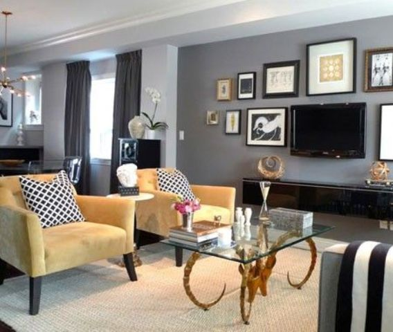 29 stylish grey and yellow living room d cor ideas digsdigs