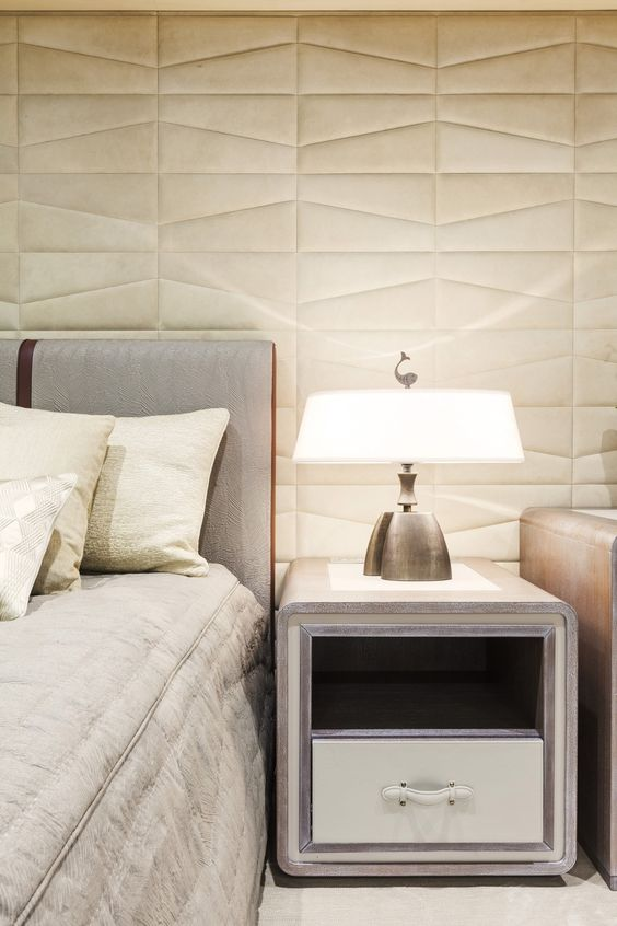 padded leather wall for a quiet sense and to add a touch of class to the room