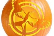 21 Mockingjay Hunger Games pumpkin